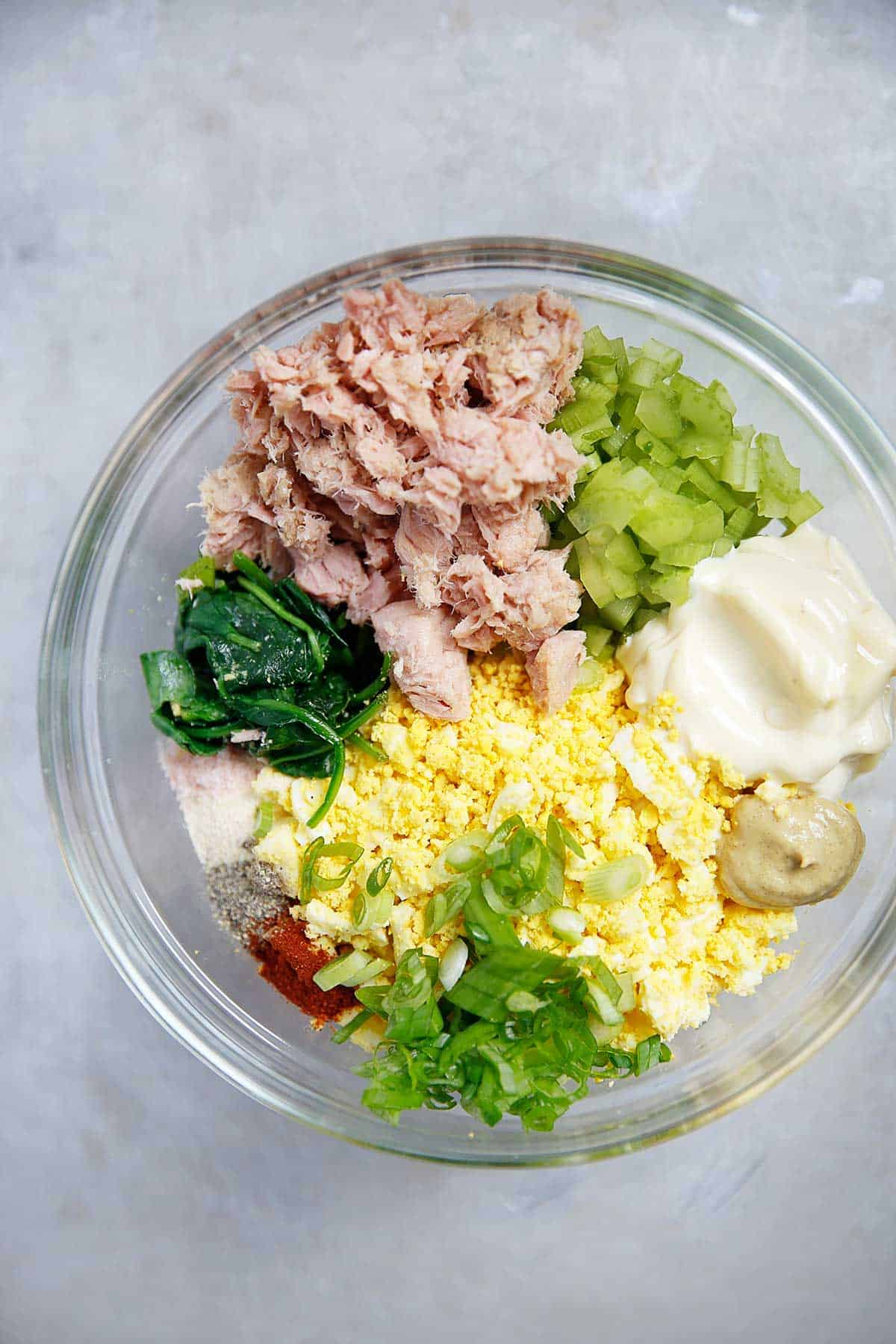 Loaded Egg Salad with Tuna