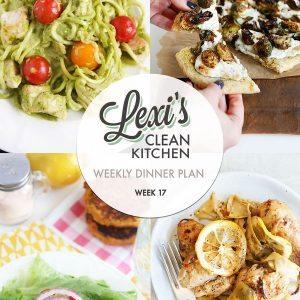Lexi's weekly meal Plan Week 17