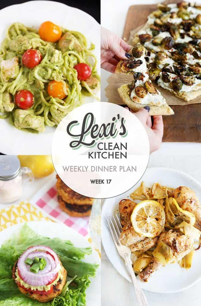 Lexi's weekly meal Plan Week 17