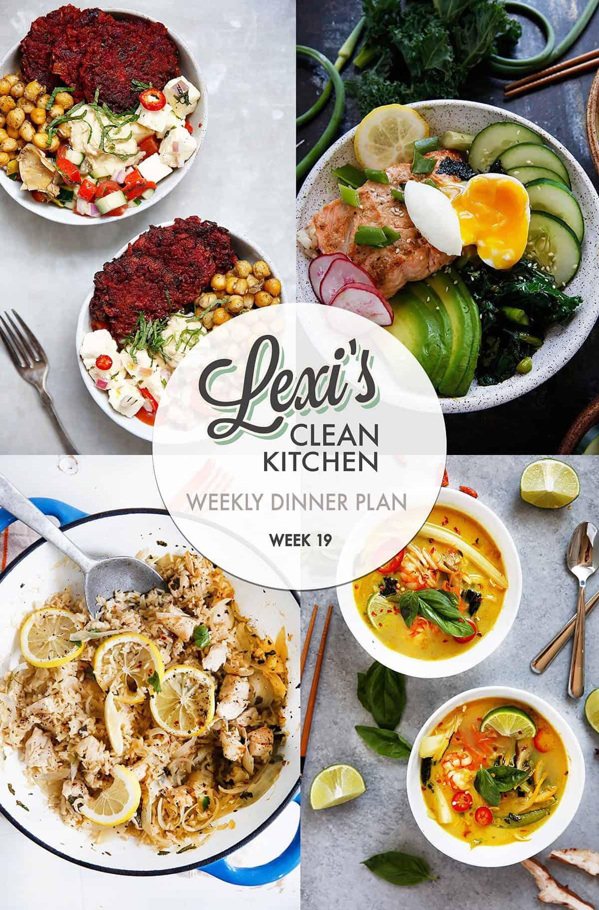 Lexi's weekly meal Plan Week 19