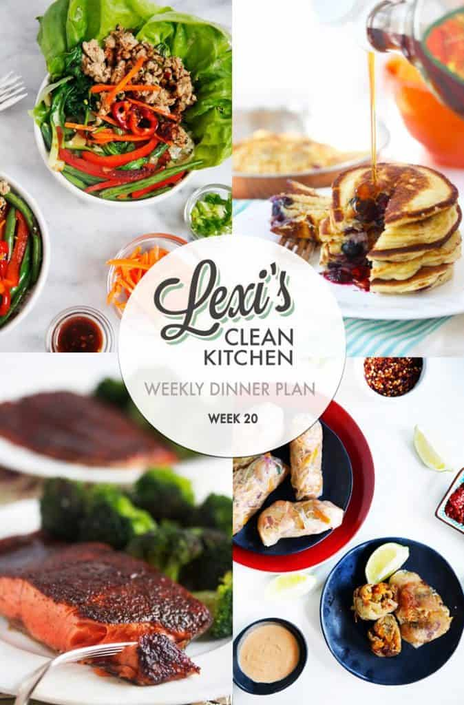 Meal Plan Graphic Week 20 | Lexi's Clean Kitchen