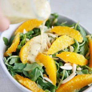 Arugula Salad with Mint Chia Dressing