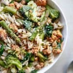 Sausage and Spring Vegetable Pasta