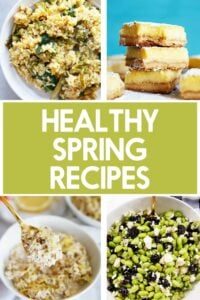 Healthy spring recipes.