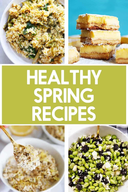 Healthy spring recipes.