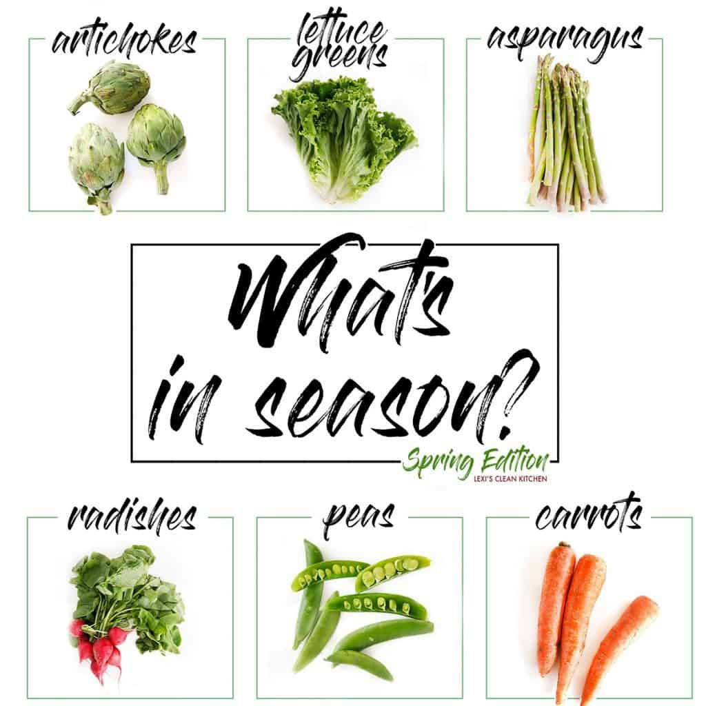 What's In Season In The Spring - Lexi's Clean Kitchen