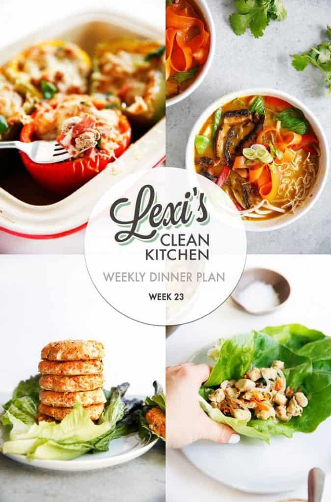Weekly Dinner Plan Week 23