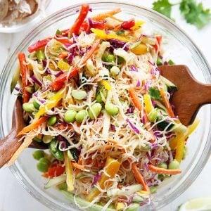 Cold Asian Noodle Salad {Gluten-free, Vegetarian} | Lexi's Clean Kitchen