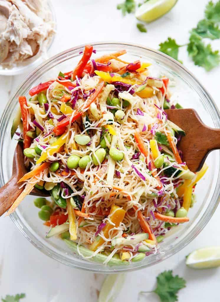 Cold Asian Noodle Salad {Gluten-free, Vegetarian} | Lexi's Clean Kitchen