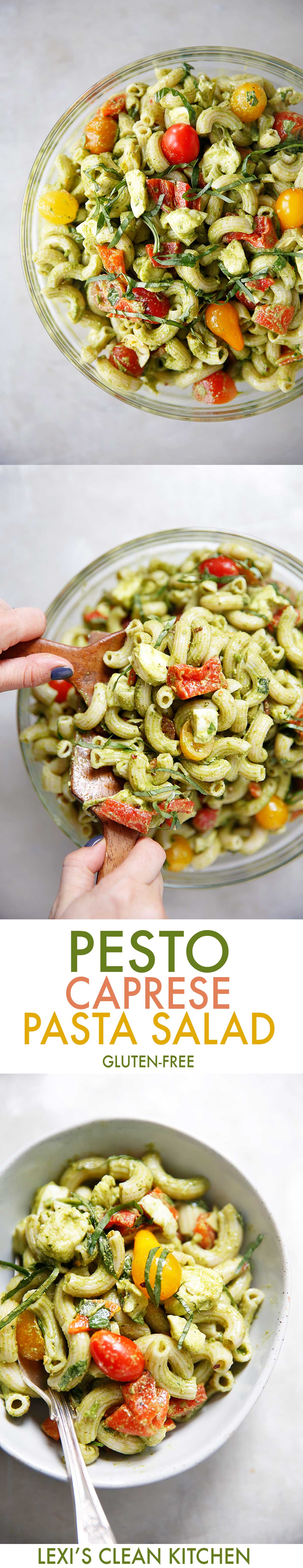 Gluten-Free Pesto Caprese Pasta Salad | Lexi's Clean Kitchen