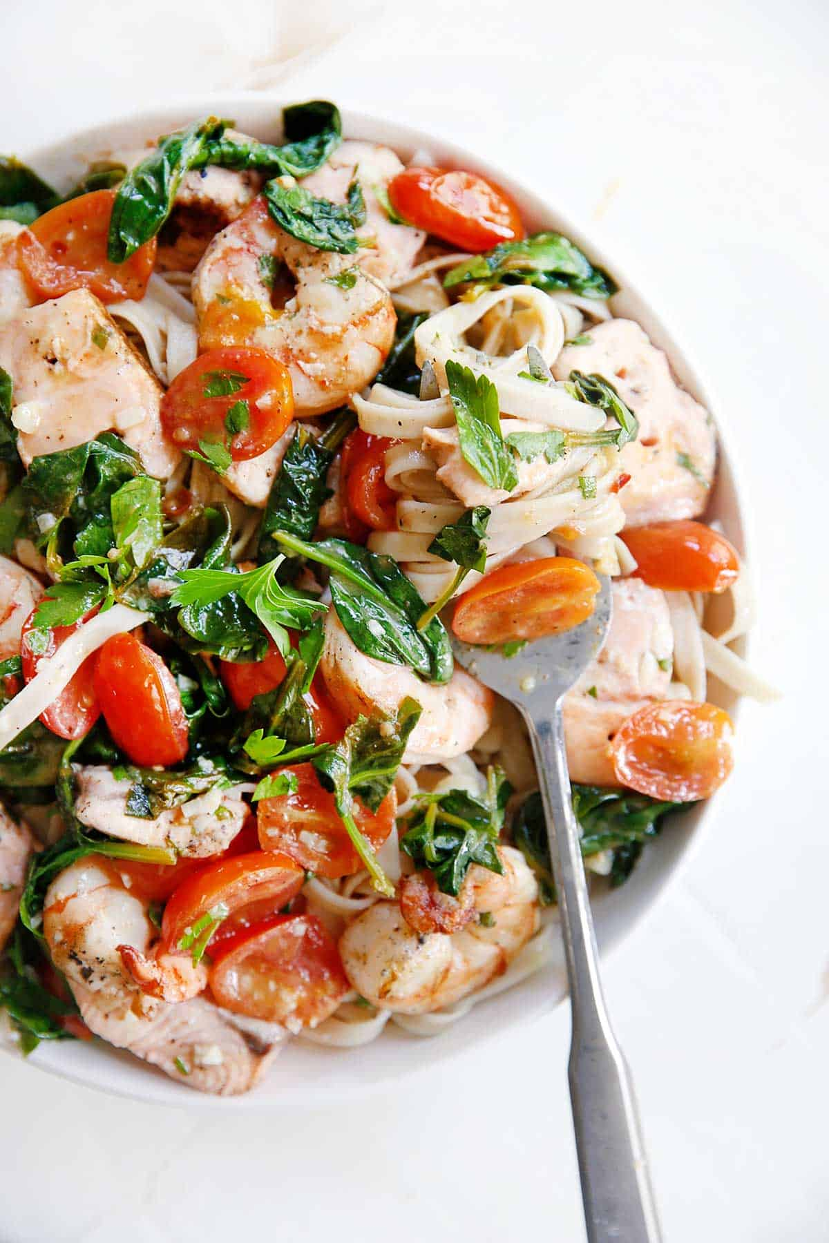 Grilled Shrimp Salmon Scampi | Lexi's Clean Kitchen