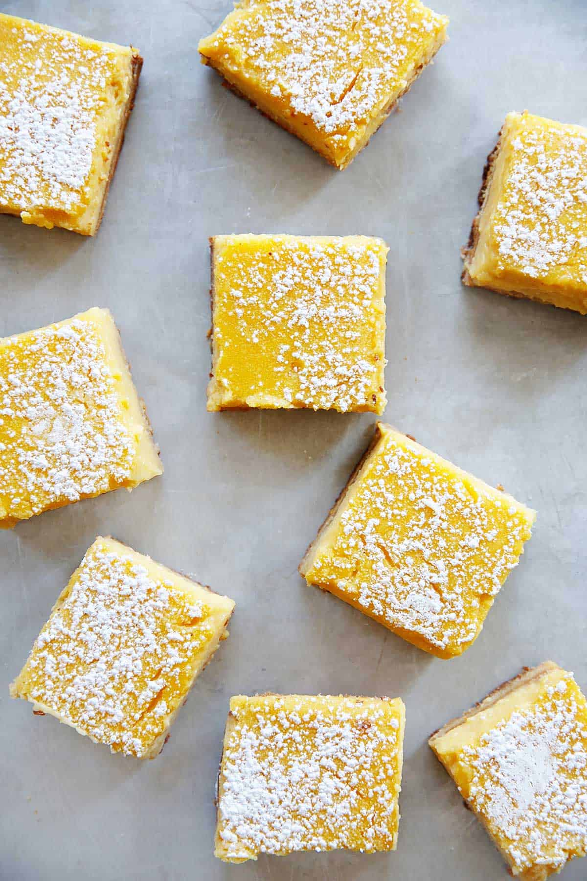 Gluten free lemon bars almond flour with powdered sugar