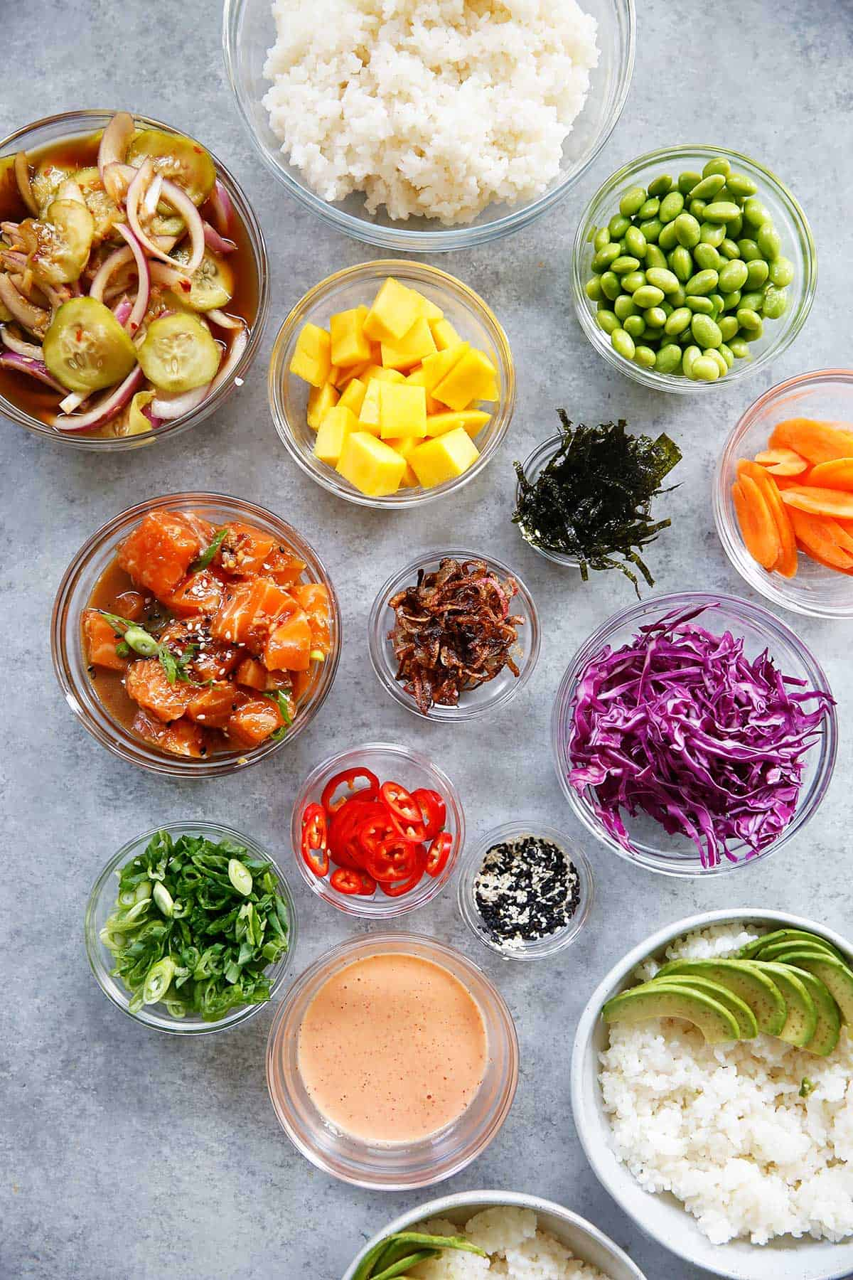 Poke Bowls Ingredients