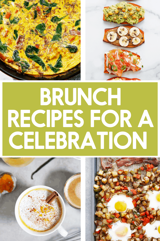 Healthy brunch recipes for a celebration.