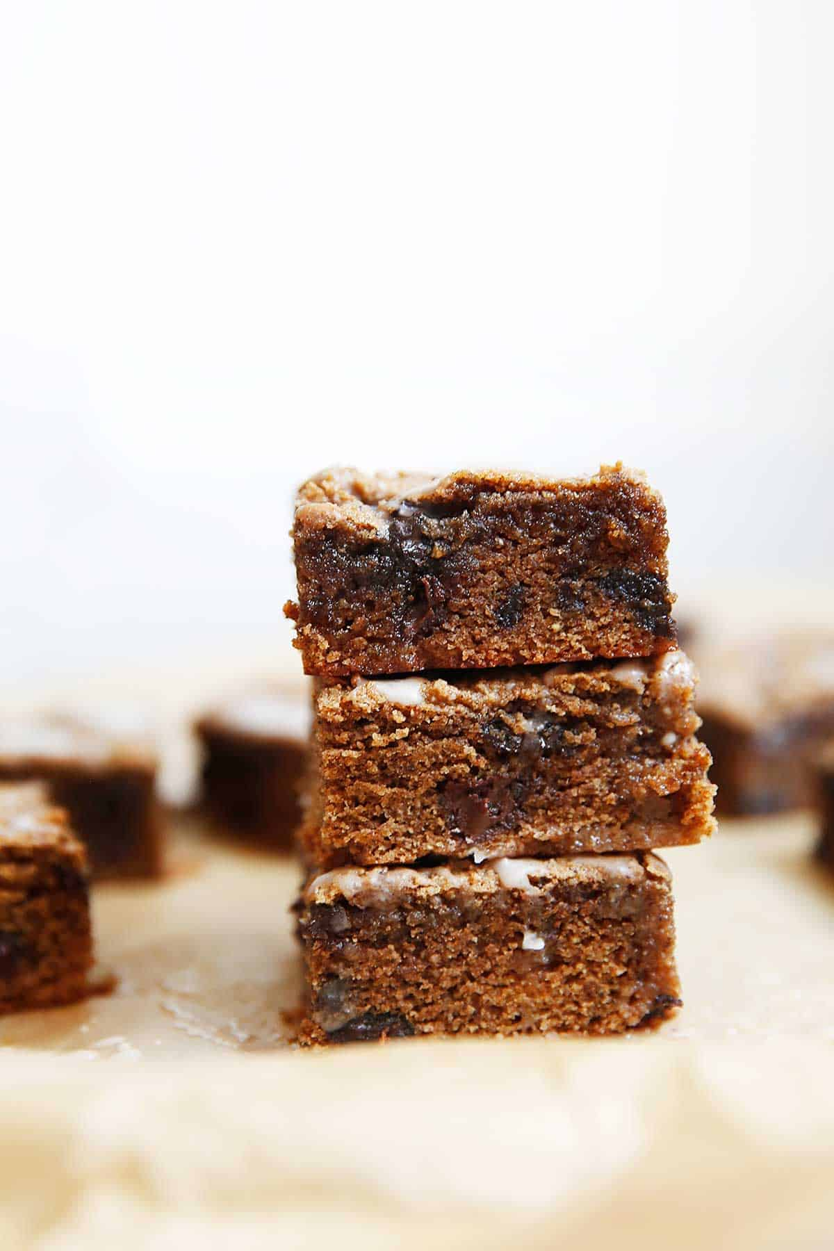 Chai Cookie Bars Vanilla Bean Glaze | Lexi's Clean Kitchen