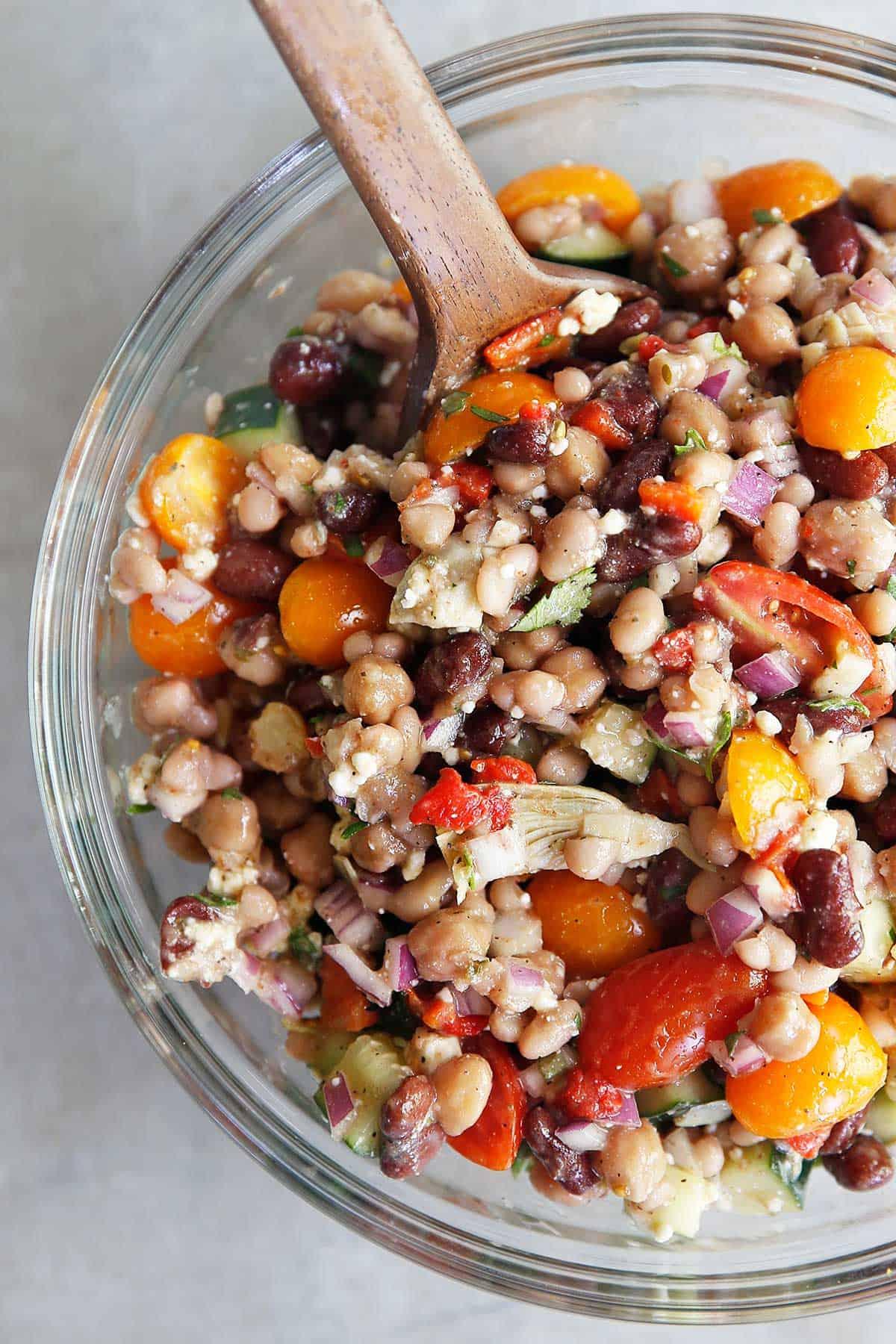 Bean salad in a bowl.