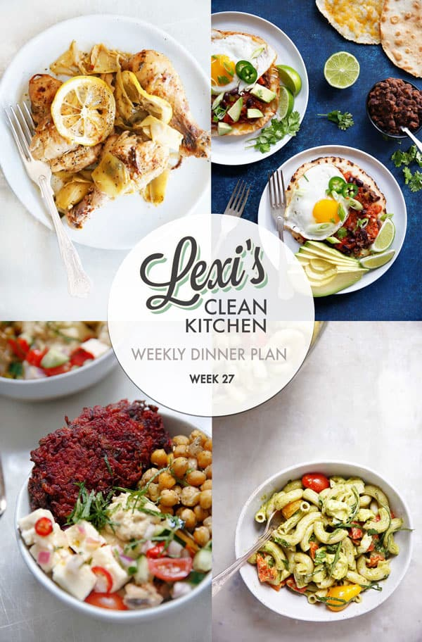Lexi's Weekly Dinner Plan Week 27