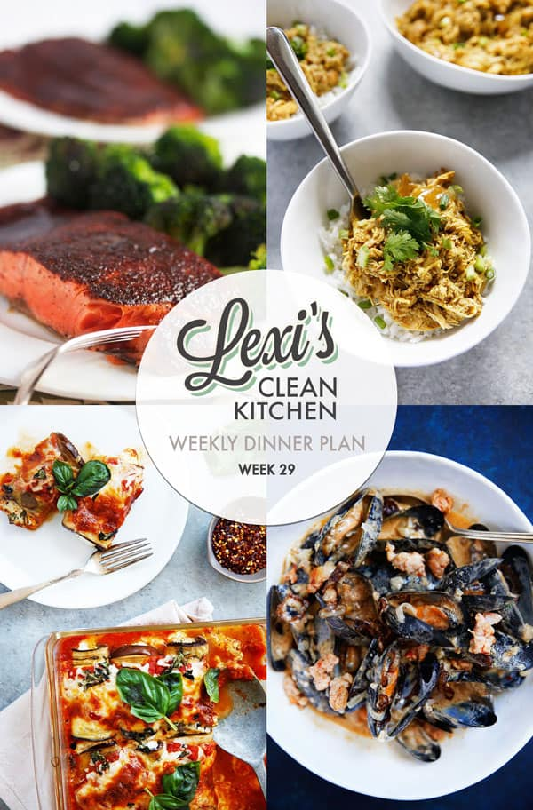 Lexi's Weekly Dinner Plan Week 29