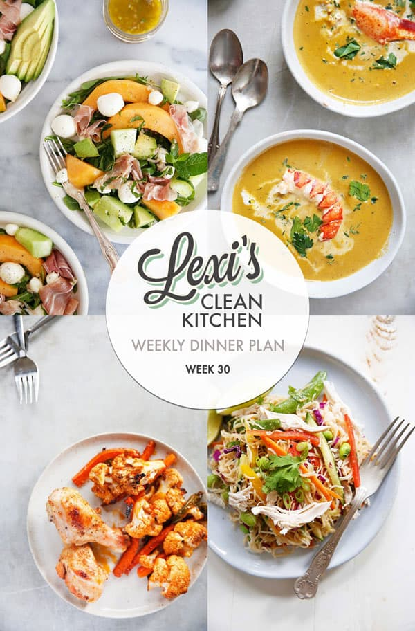 Meal Plan Graphic Week 30 | Lexi's Clean Kitchen