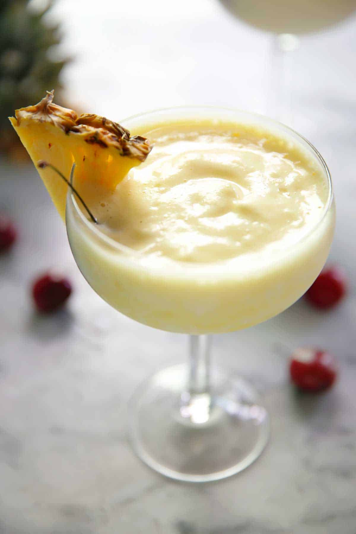 Four-Ingredient Lightened Up Piña Colada