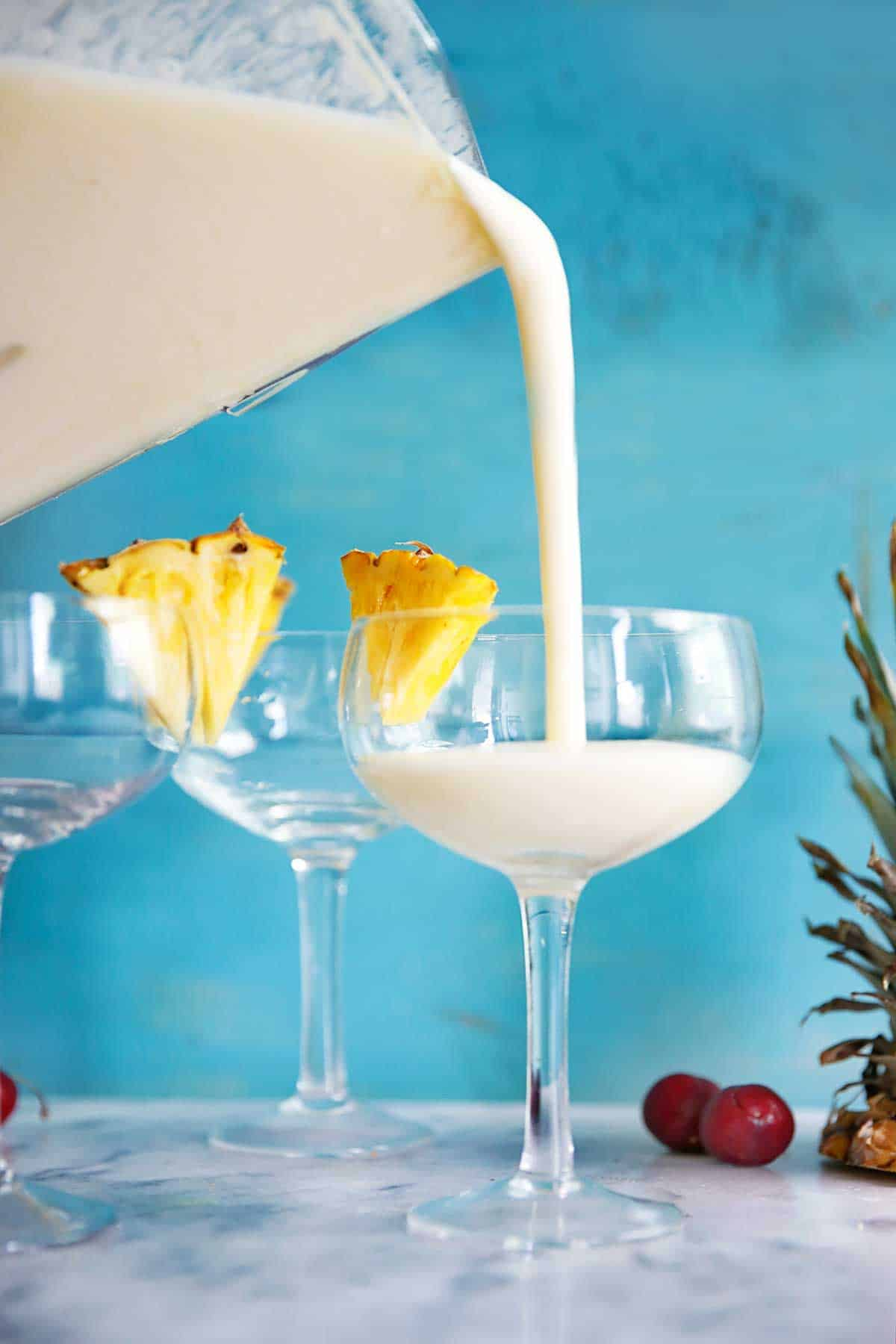 4 Ingredient Lightened Up Pina Colada {Dairy-free, no added sugar} | Lexi's Clean Kitchen