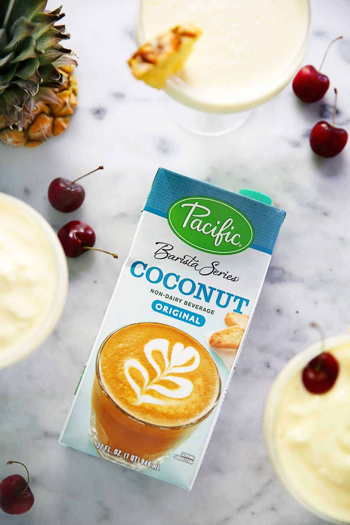 4 Ingredient Lightened Up Pina Colada | Lexi's Clean Kitchen