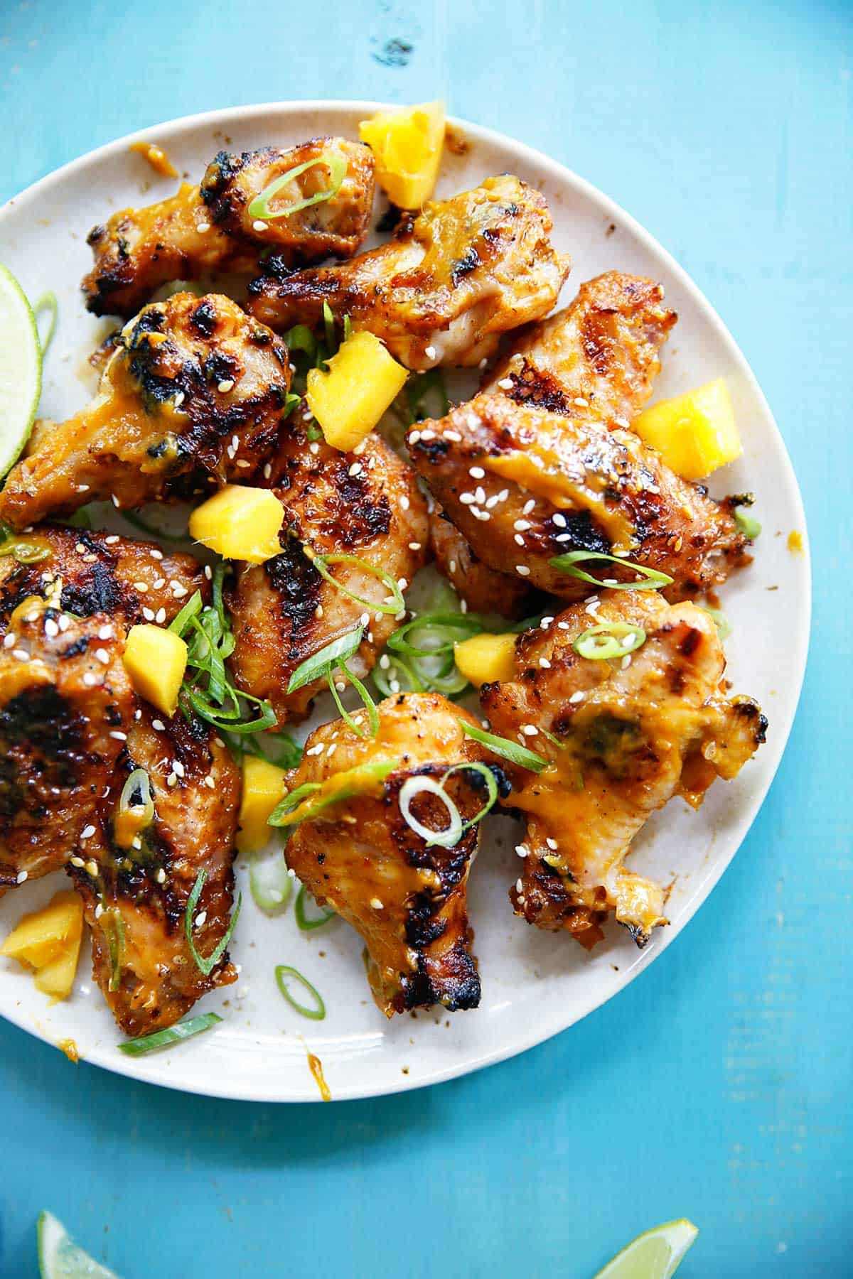 Chicken Wings with Mango Chili Sauce   Lexi's Clean Kitchen