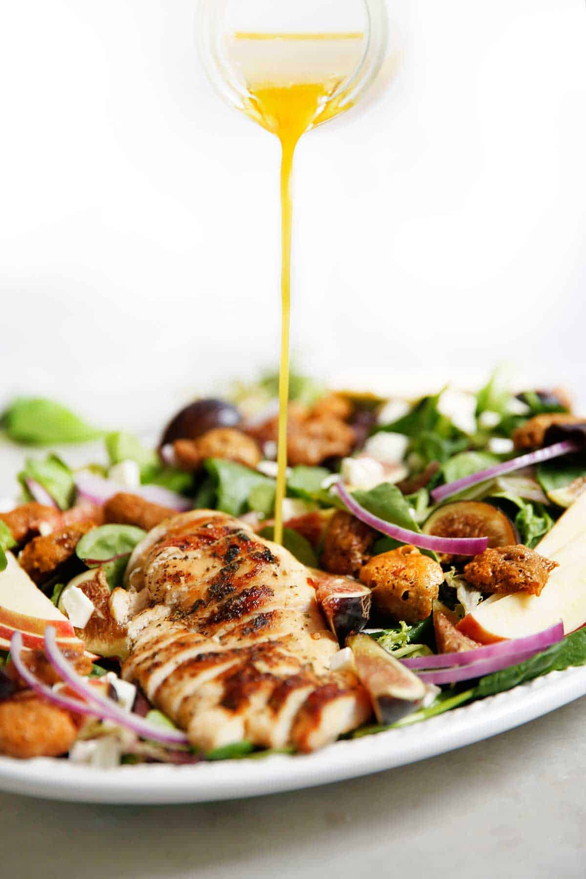 Herb Chicken Candied Pecan Salad | Lexi's Clean Kitchen