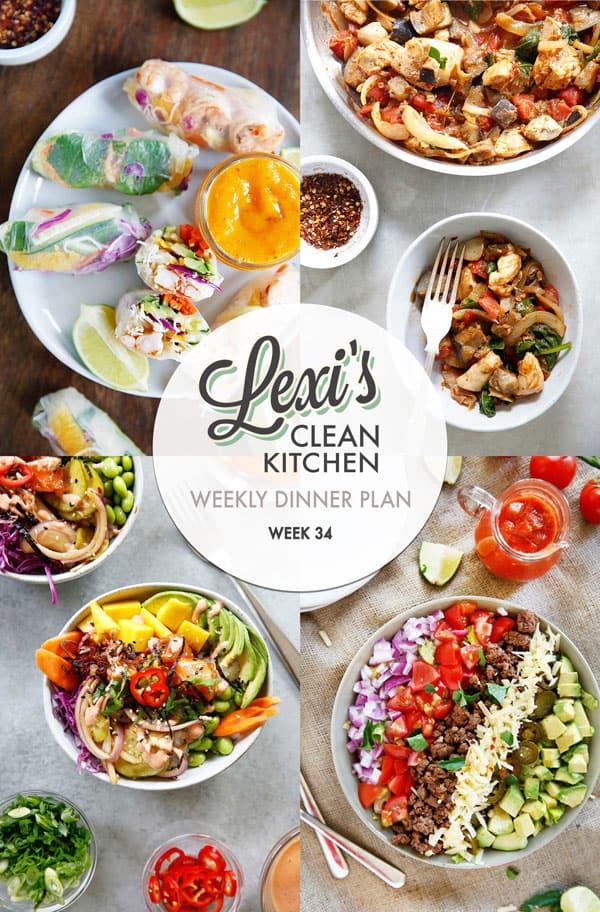 Lexi's Weekly Dinner Plan Week 34