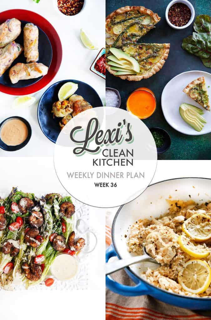 Meal Plan Graphic Week 36 | Lexi's Clean Kitchen