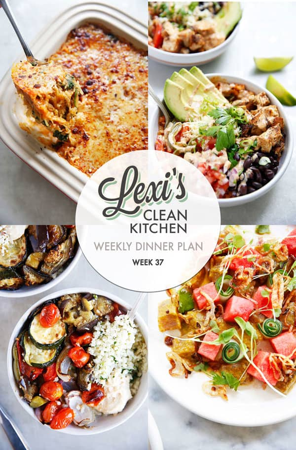 Meal Plan Graphic Week 37 | Lexi's Clean Kitchen