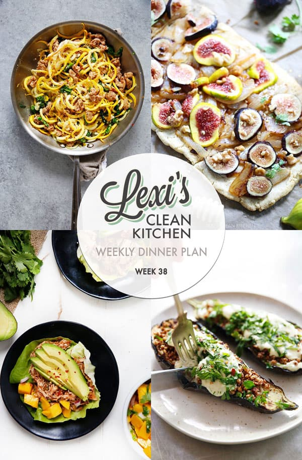 Meal Plan Graphic Week 38 | Lexi's Clean Kitchen