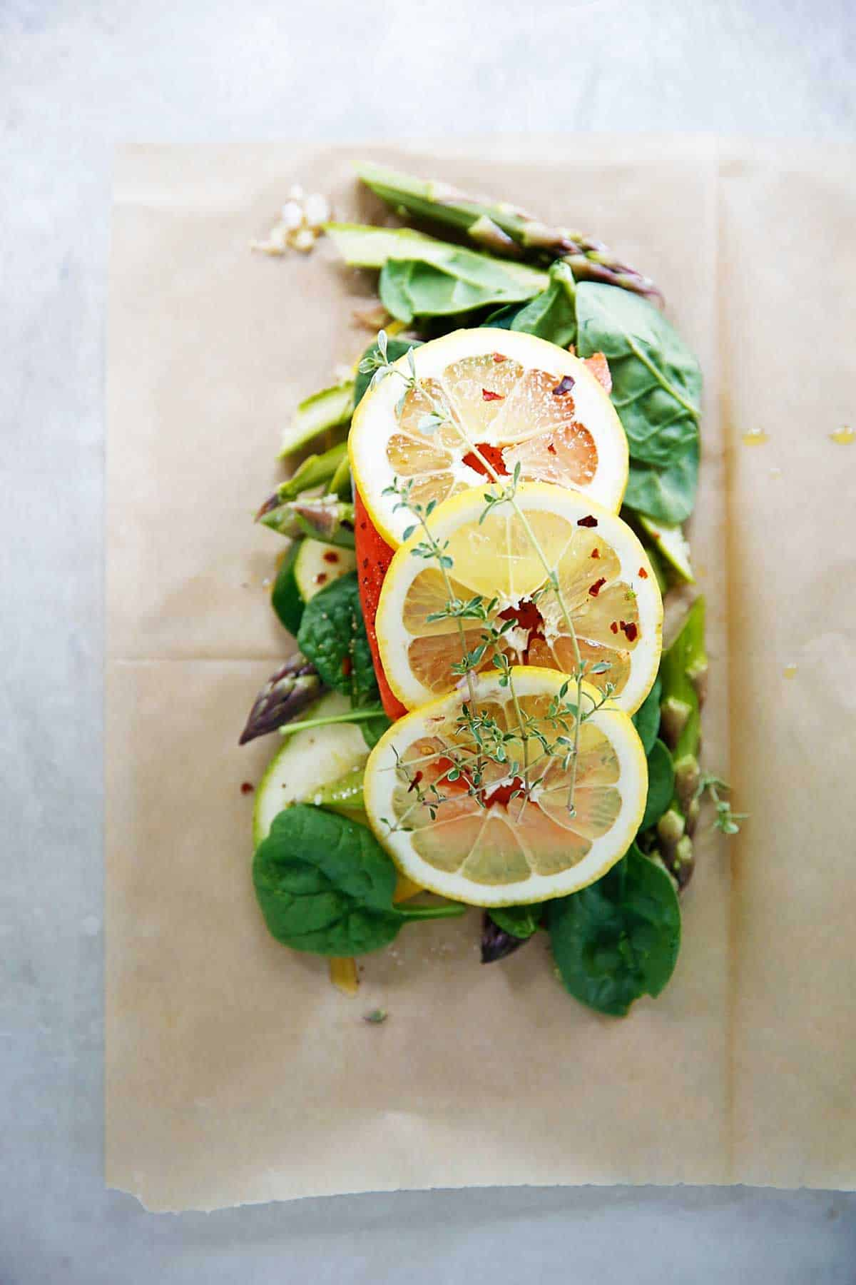 Salmon and Veggies In Parchment (en papillotte) {30 minutes or less, grain-free, dairy-free, paleo-friendly, Whole30}   Lexi's Clean Kitchen