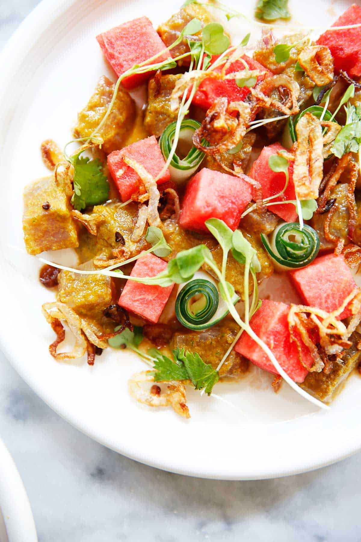 Watermelon Ahi Tuna Salad (gluten-free, soy-free, low carb) - Lexi's Clean Kitchen