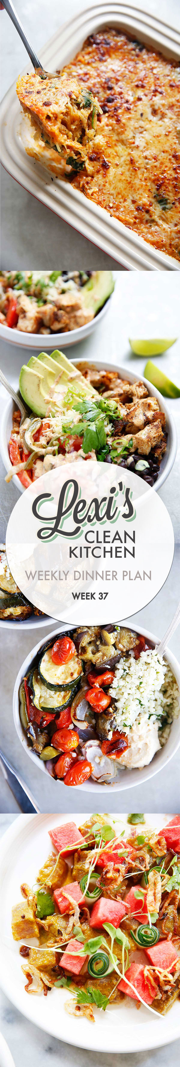 Weekly Dinner Plan Week 37 | Lexi's Clean Kitchen