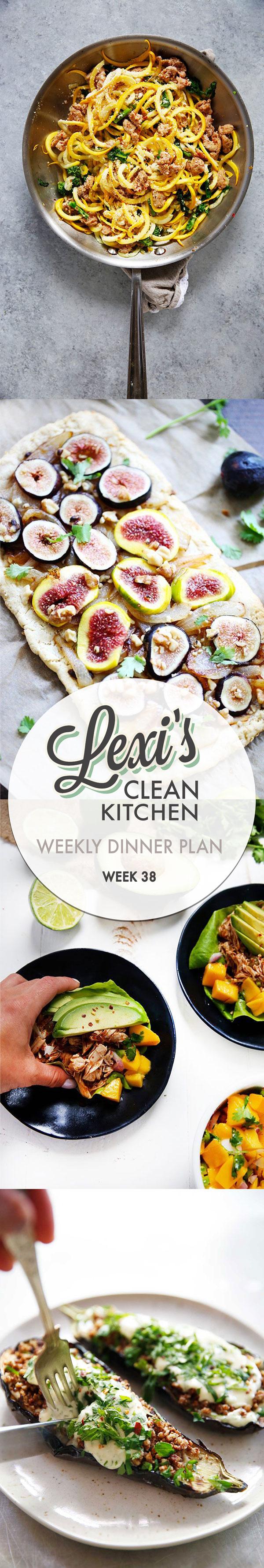 Weekly Dinner Plan Week 38 | Lexi's Clean Kitchen
