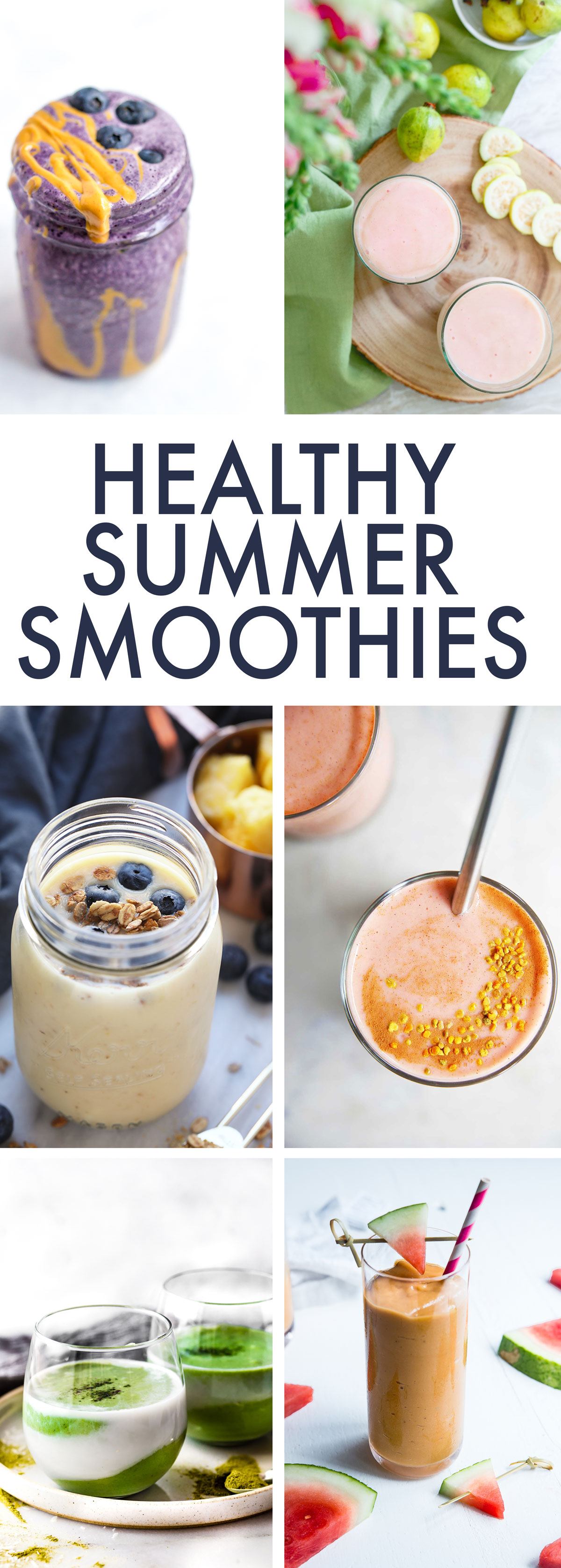 Healthy Summer Smoothies (dairy-free, vegan) - Lexi's Clean Kitchen
