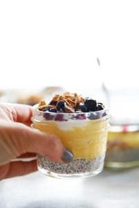 Lemon Curd and Blueberry Compote Breakfast Parfaits - Lexi's Clean Kitchen