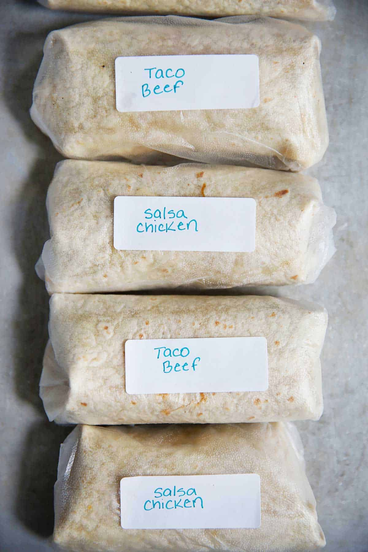Meal Prep Freezer Burritos