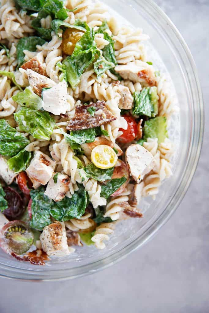 Gluten Free Chicken Caesar Pasta Salad - Lexi's Clean Kitchen
