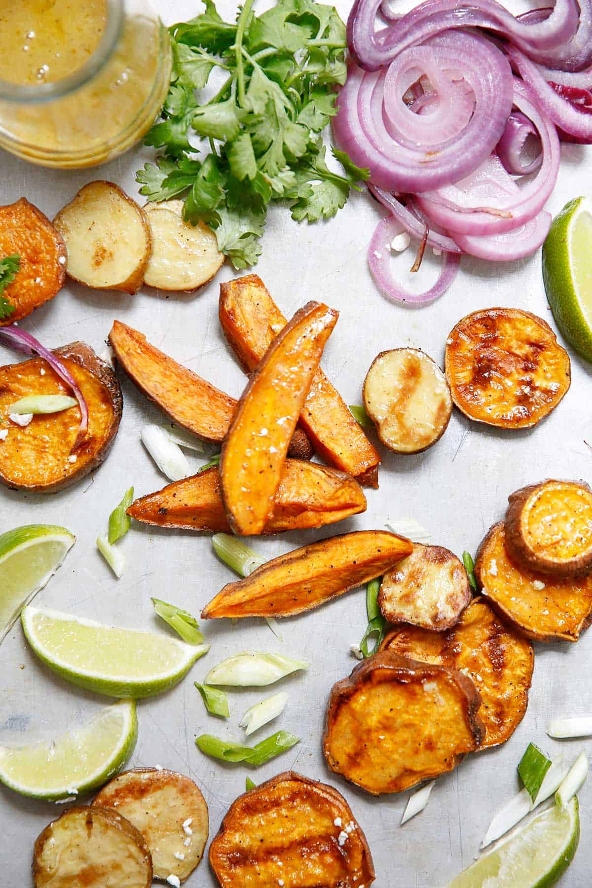 Grilled Sweet Potato Salad with Honey Mustard Vinaigrette (Vegetarian & Gluten-Free) - Lexi's Clean Kitchen