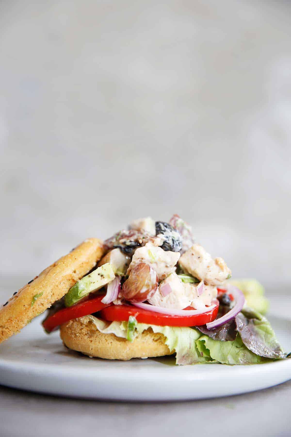 Loaded Chicken Salad Sandwich | Lexi's Clean Kitchen
