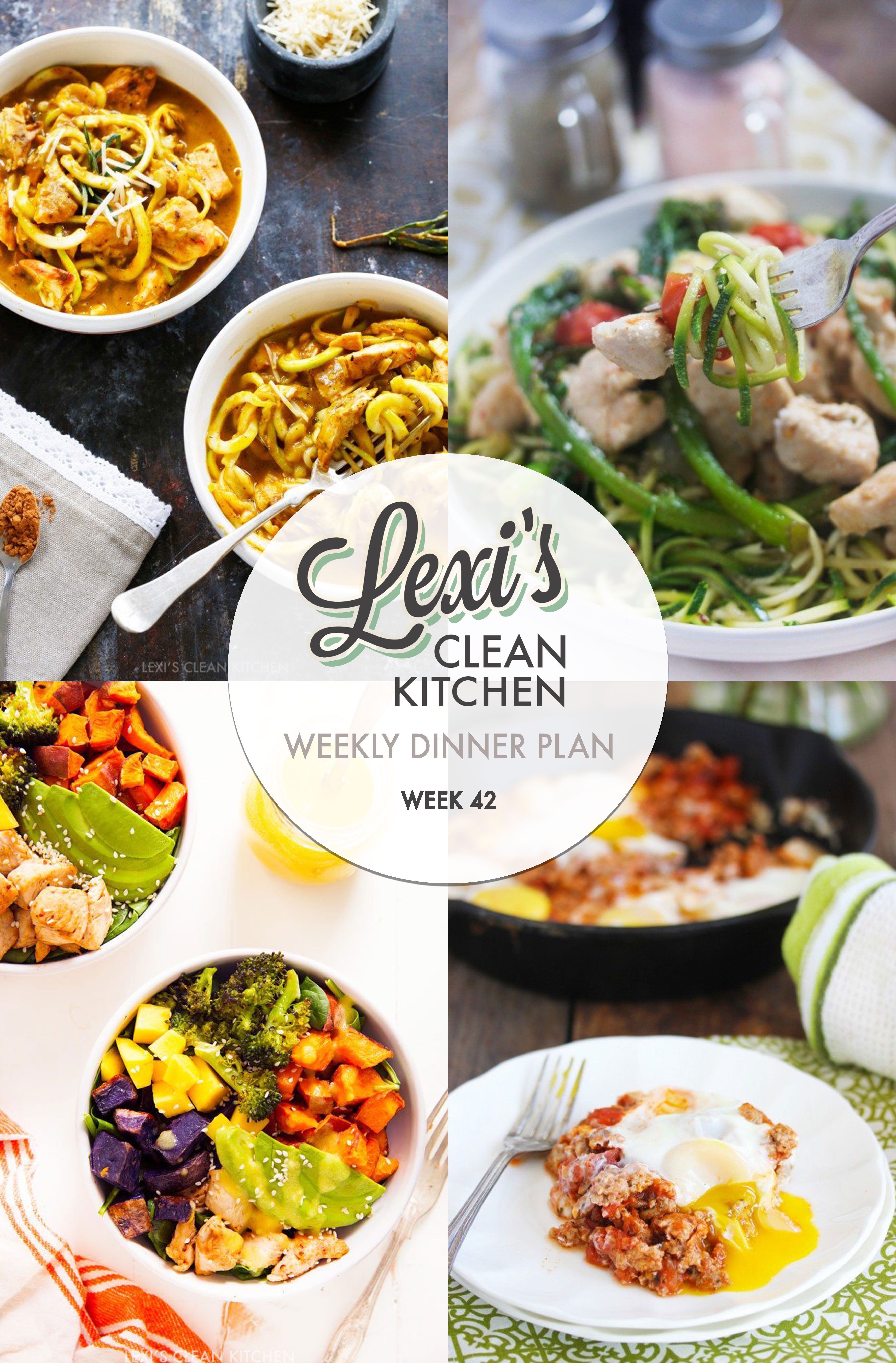 Meal Plan Graphic Week 42 | Lexi's Clean Kitchen