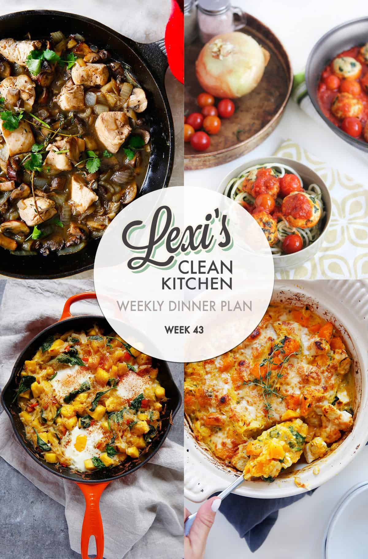 Meal Plan Graphic Week 43 | Lexi's Clean Kitchen