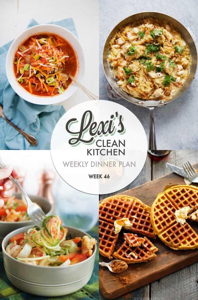 Meal Plan Graphic Week 46 [Gluten-free] | Lexi's Clean Kitchen
