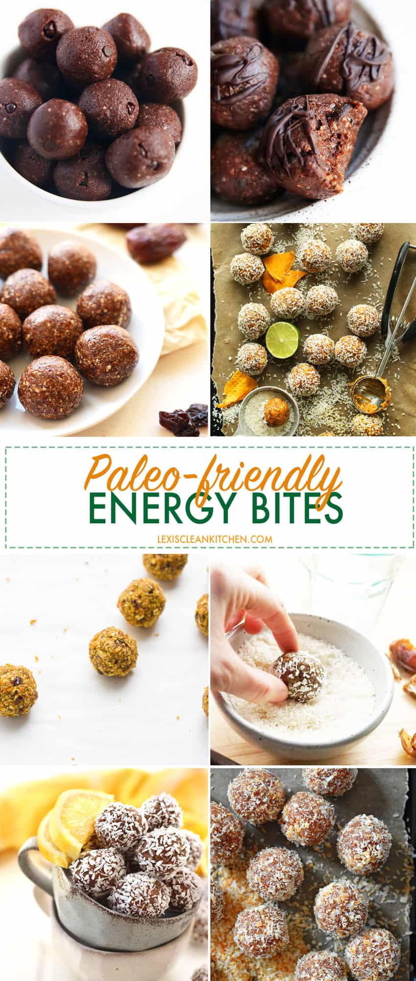 No Bake Energy Bites Round-Up | Lexi's Clean Kitchen