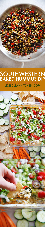 Southwestern Baked Hummus Dip [vegetarian] | Lexi's Clean Kitchen