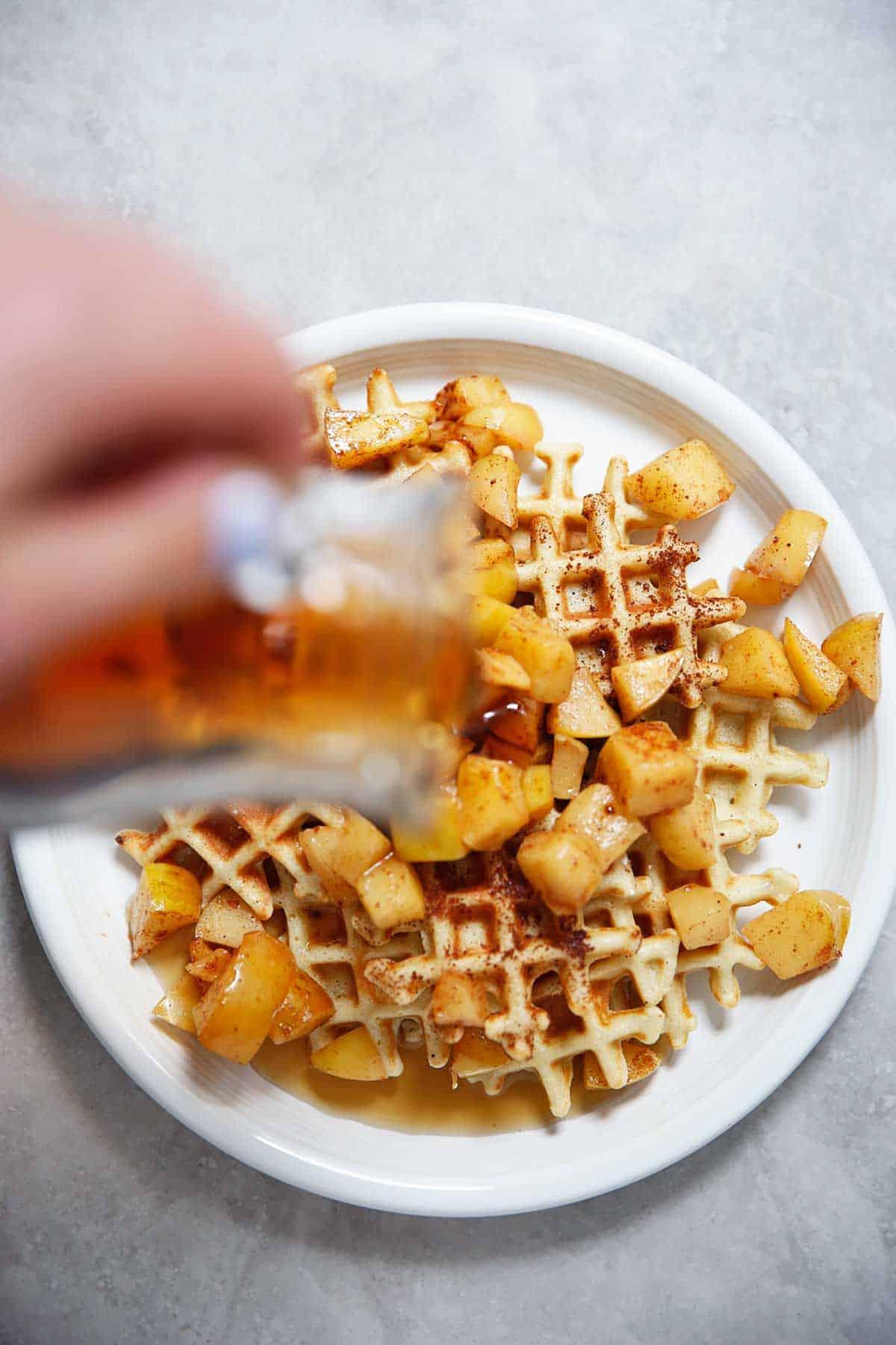 Freezer Friendly Waffle Bites Caramelized Apples