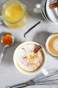 Dairy-Free Golden Turmeric Latte With Espresso | Lexi's Clean Kitchen