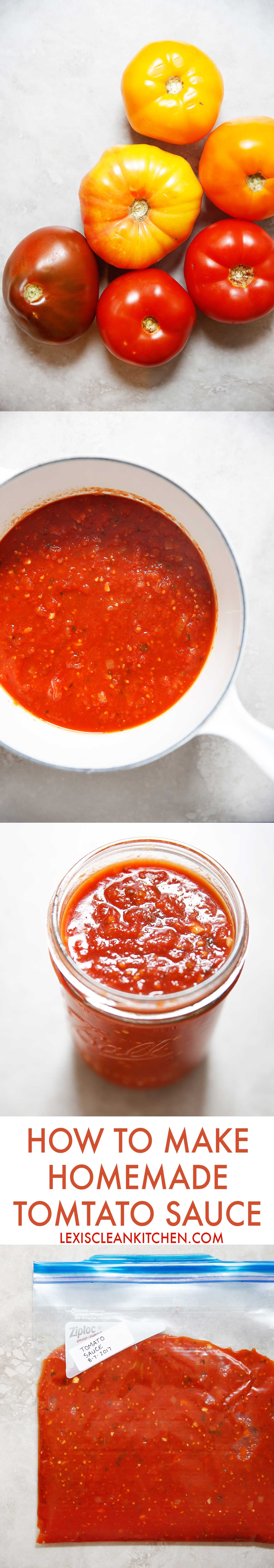 How To Make Tomato Sauce [low-carb, whole30 compliant, grain-free, paleo-friendly, no added sugar]   Lexi's Clean Kitchen